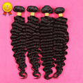 8 - 30 '' 7a pelo rizado malasio 4 unids mucha onda profunda malasia pelo de la virgen extensiones de cabello humano rizado Bundles 4 unids/lote