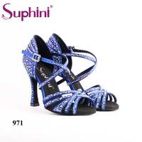 Suphini NEW COLLECTION Blue Woman Latin Dance Shoes Free Shipping