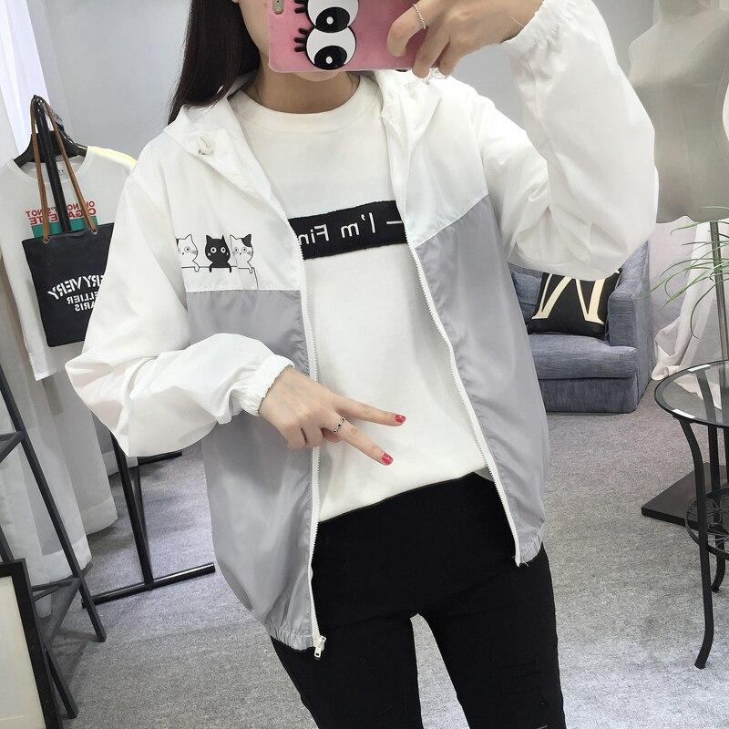 Jacken Frauen 2019 Neue Mode Frauen Mit Kapuze Grundlegende Jacke - Damenbekleidung - Foto 6
