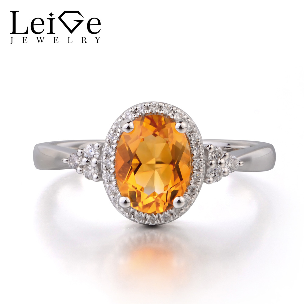 Leige Jewelry Natural Citrine 925 Sterling Silver Ring Fine Gemstone Birthstone Oval Cut Engagement Promise Ring Gifts for Women iso median section of head model anatomical head model