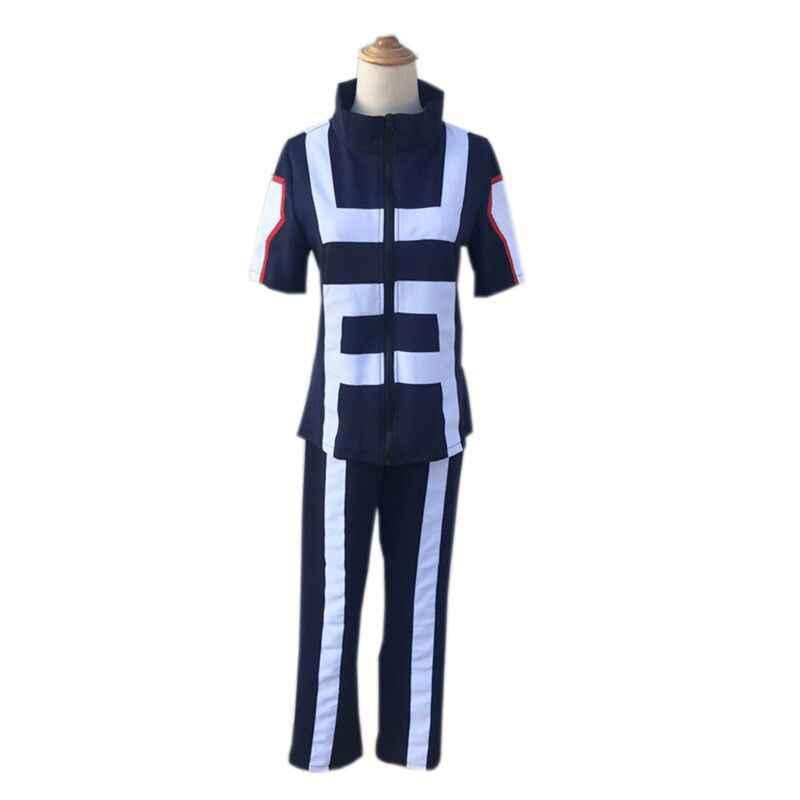 אנימה Boku לא גיבור אקדמיה שלי גיבור אקדמיה כל התפקידים חדר כושר חליפת גבוהה ספורט תלבושת בית ספר תלבושת Cosplay תלבושות למעלה + מכנסיים