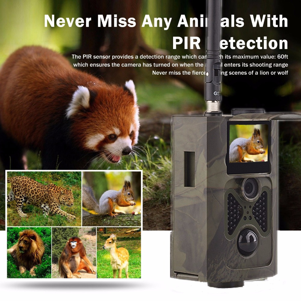 Hunting Camera HC-550M Infrared Photo Trap Digital Trail Camera 16MP Hunting Camera with 24pcs Night Vision Infrared LEDs cam ip56 waterproof hunting camera night vision 16mp 1080p digital infrared game hunting trail camera hunter cam 2 4 lcd screen