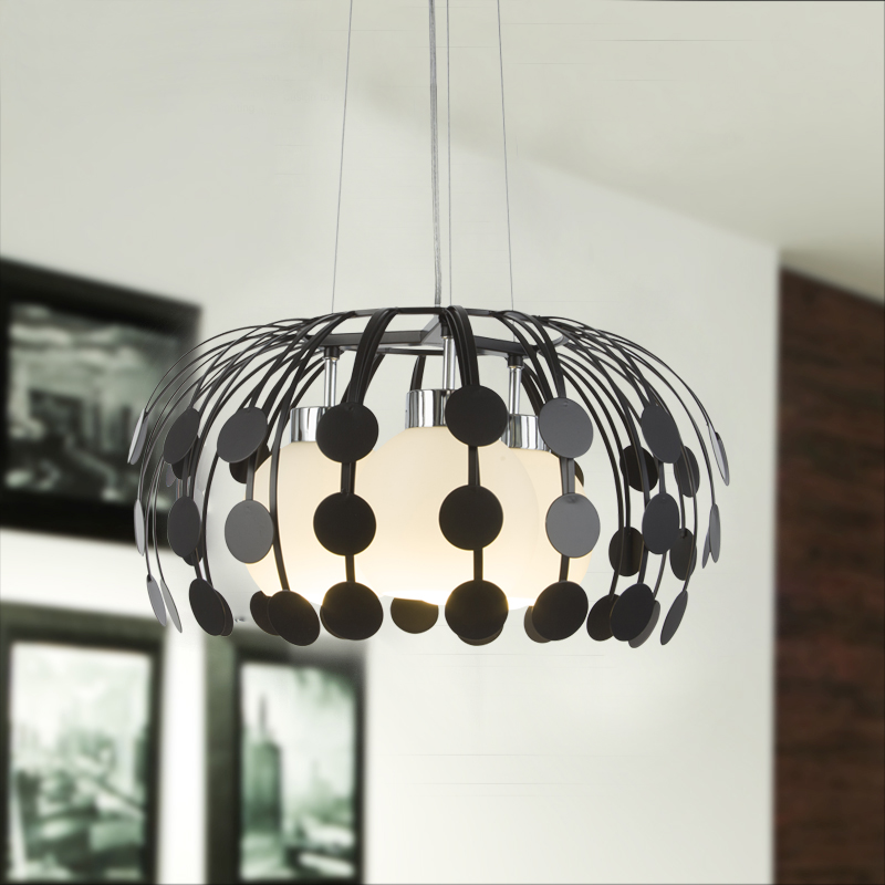 Nordic iron pendant lights creative glass dining room personality balcony living room bedroom Hotel white/black 3 heads lamps ZA chinese style iron rectangula pendant lamps creative personality study the living dining room bar lights za628 zl33 ym