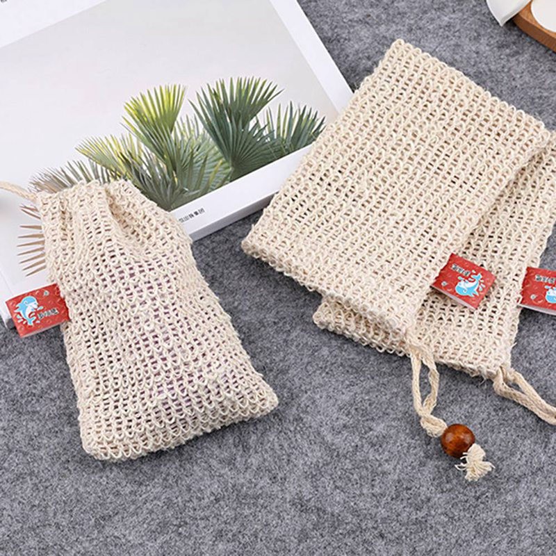 Special Section Hot 6 Pcs Natural Exfoliating Soap Bags Handmade Sisal Soap Bags Natural Sisal Soap Saver Pouch Holder Bath Soap Holder Bags Big Clearance Sale Liquid Soap Dispensers Bathroom Hardware