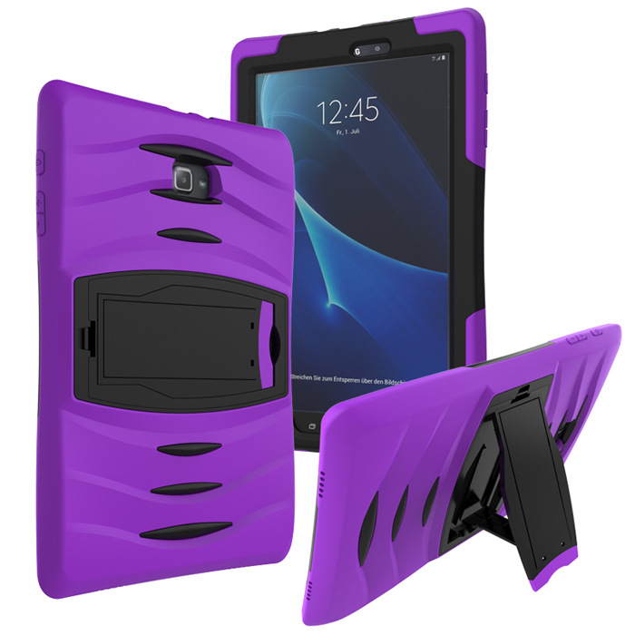 For Samsung Galaxy Tab A T580 T585 10.1 inch Tablet Case Cover Heavy Duty Rugged Impact Hybrid Case Kickstand Protective Cover hh xw dazzle impact hybrid armor kickstand hard tpu pc back case for samsung galaxy tab a 8 0 inch p350 p355c t350 t355 sm t355