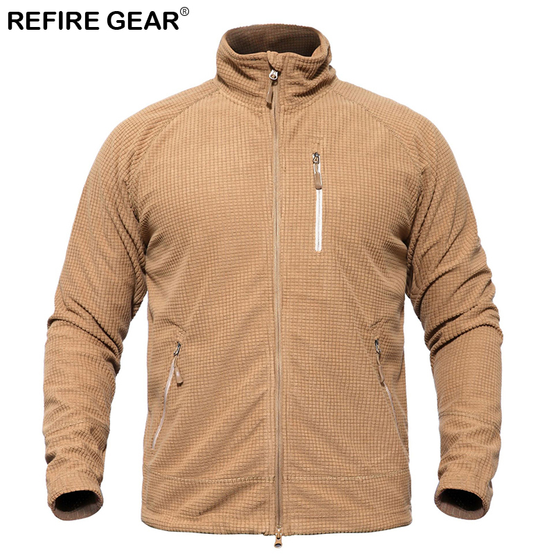 ReFire Gear Outdoor Hunting Skin Jacket Men Spring Autumn Windbreaker Hiking Waterproof Jacket Breathable Sport Fishing Jacket