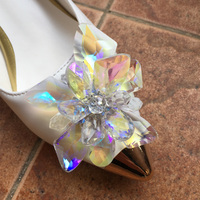 Anime Card Captor KINOMOTO SAKURA Clear Card OP Cosplay Shoes Princess Cinderella Ice Snow Angel SAKURA Cos Women Crystal Shoes