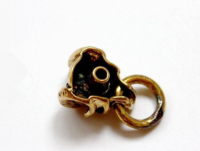 Béliers en laiton crâne squelette EDC porte-clés pendentif Multi outils