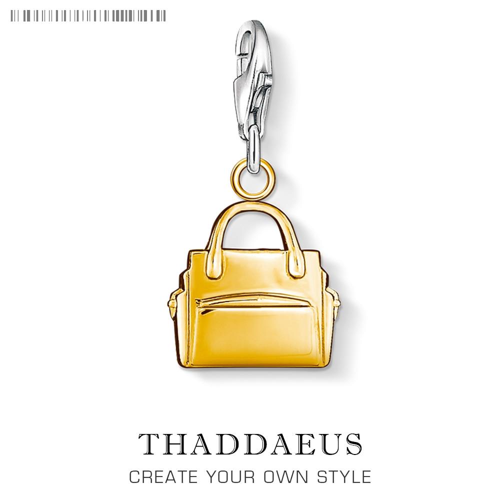 Yellow Enamel Fashion HandBag Charm Stylish Purse Bag Buckle Silver Pendant For Bracelet Car Keyrings Key Chains Holder Women