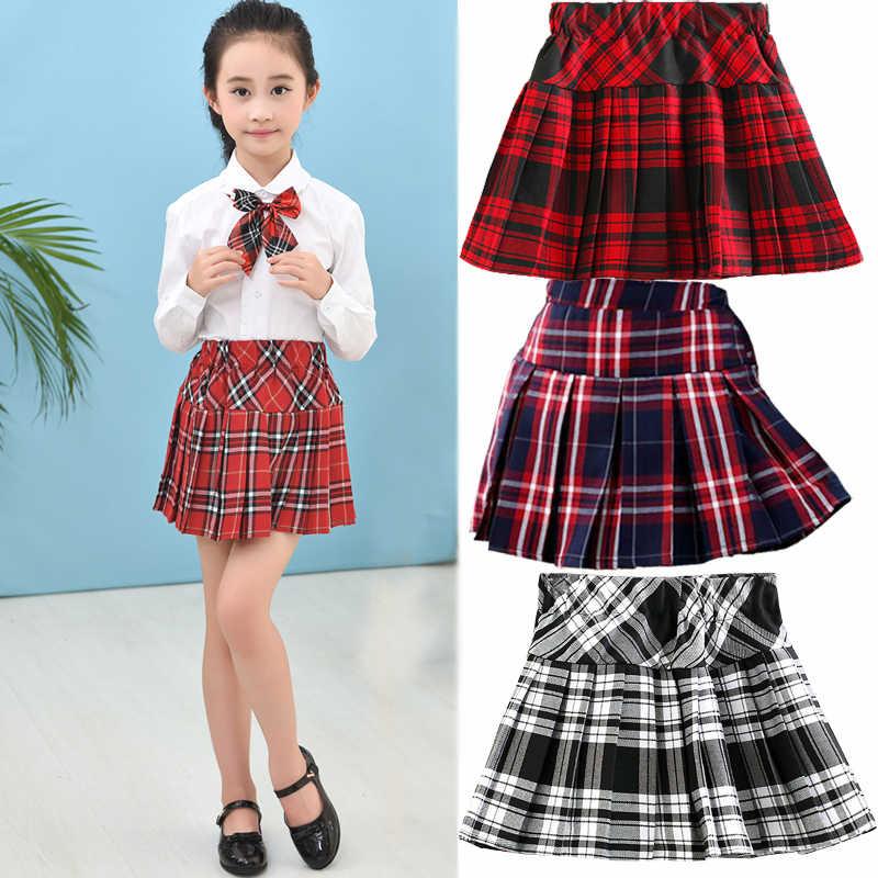 Kids Plaid Short Skirt for Girls School Children's College Style Girls  Skirts Pleated Half length Skirt Clothes Spring Fashion Skirts  - AliExpress