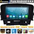 4 Núcleos Quad Core Android 4.4 DVD Del Coche Para Chevrolet Cruze Holden Cruze 2008 2009 2010 2011 2012 Con 16G de Memoria de Radio GPS