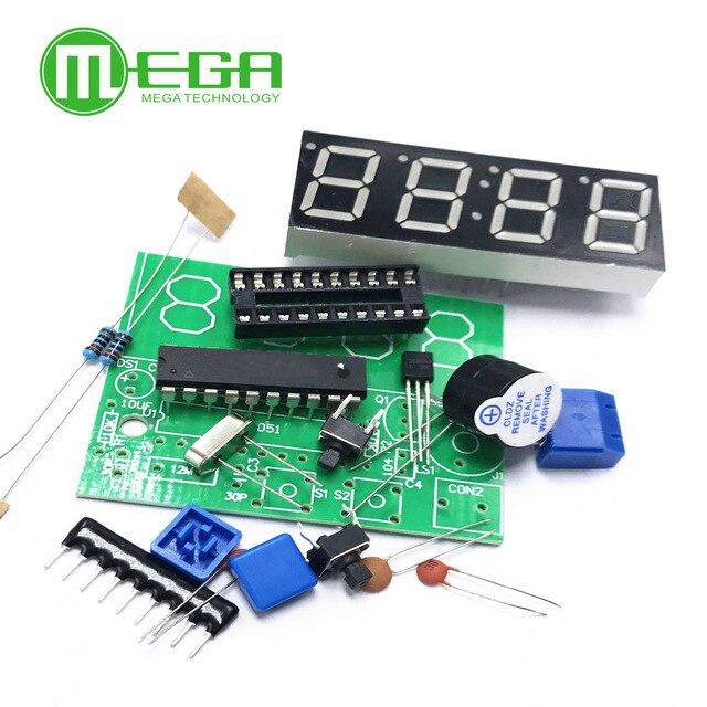 Digital 4 Bits Electronic Clock Electronic Production Suite DIY Kit