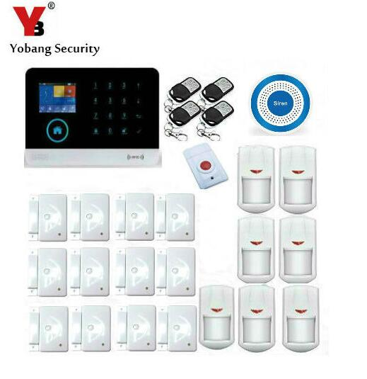 Yobang Security APP Control Auto Dial Panic Wireless Alarma WIFI Alarm System GSM Home Security PIR Detector Burglar Alarm wireless gsm pstn auto dial sms phone burglar home security alarm system yh 2008a