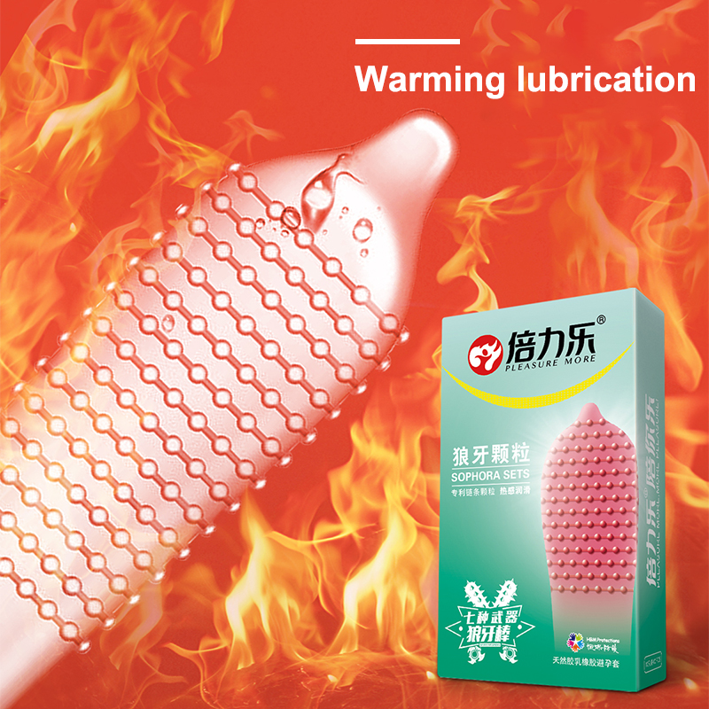 Beilile 30PCS Spike Studded Condoms For Men Cool Warm Lubricated Orgasm G Spot Stimulation Cock Penis Sleeve Sex Products in Condoms from Beauty Health