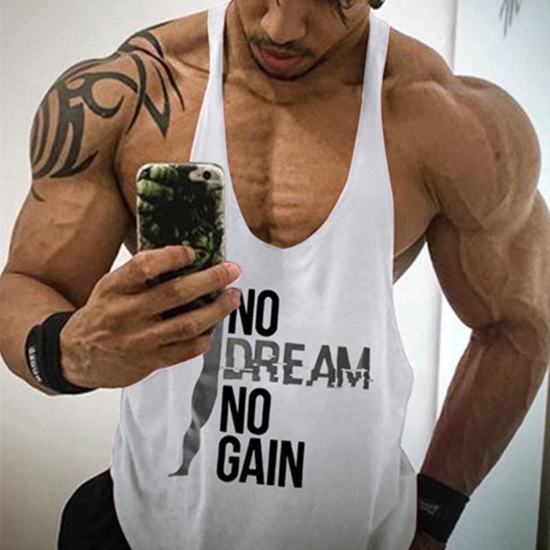 New Mens Casual Loose Style Fitness   Tank     Tops   For Male Summer Fashion Work vest Sleeveless Active Muscle Vests Undershirts