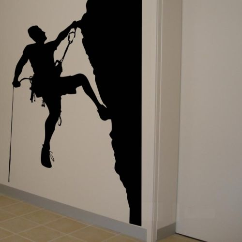 Mountain Climbing rock Wall Sticker Home Decoration Vinyl Decals For ...
