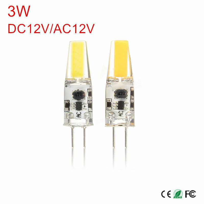 G4 светодиодный COB лампа G4 Светодиодный светильник AC/DC 12 V 220 V 3 W COB SMD светодиодный фары для замены Галогенные G4 Светодиодный s лампы для люстры
