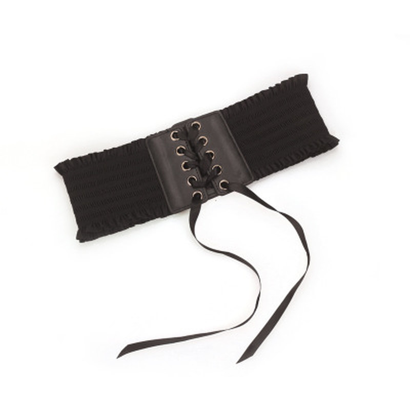Sexy Women Lady Fashion Wide Buckle Elastic Stretch Corset Waistband Waist Belt