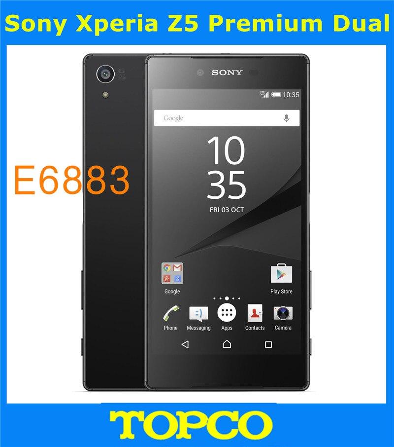 "bilder für Sony xperia z5 premium dual original unlocked gsm 4g lte android Dual Sim Octa Core RAM 3 GB ROM 32 GB E6883 5,5 ""23MP WIFI GPS"