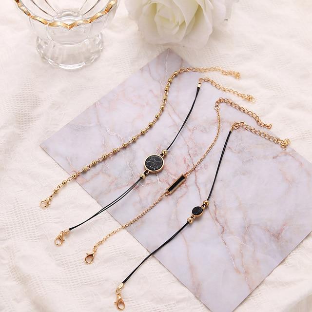 4PCS Vintage Bracelets Set...