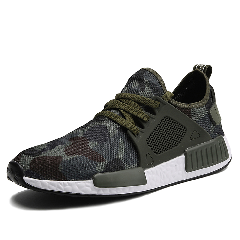 Mænd Casual Løbesko Spring Summer Sneaker Fashion Man Shoes Hombre Army Green Herresko Casual Camouflage Fodtøj