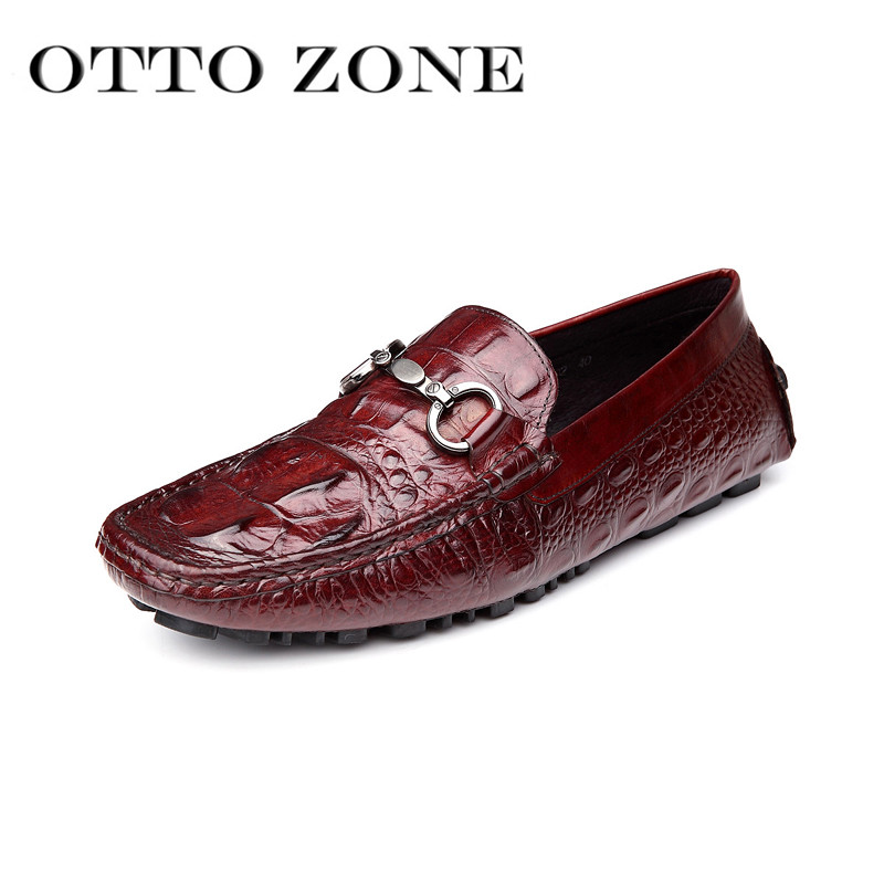 Men's Shoes Otto Men Shoes Handmade Oxford Loafers Shoes Genuine Crocodile Cow Leather Casual Wedding Shoes Platform Shoes Latest Technology Oxfords
