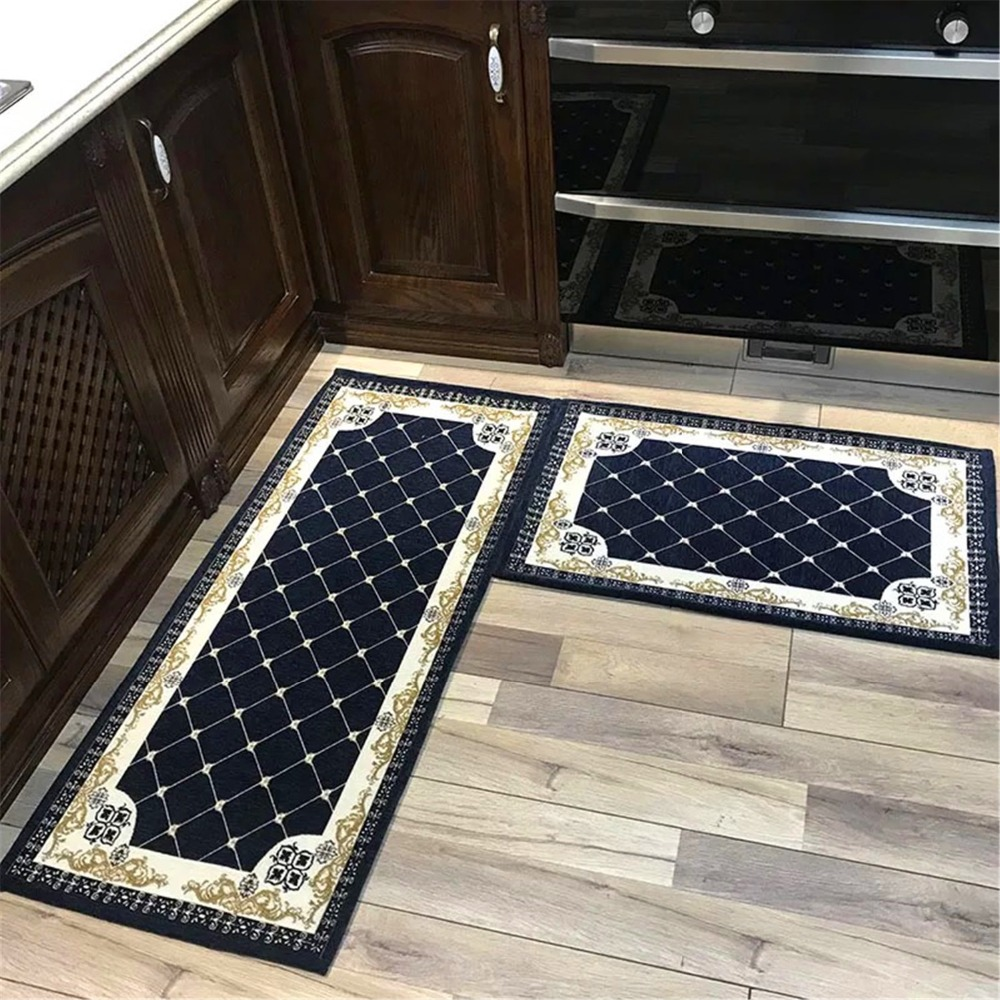 Europe Kitchen Mat Home Entrance Hallway Doormat Anti Slip Bathroom Carpet Long Kitchen Rug Balcony Toilet