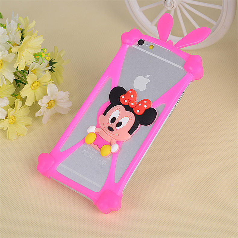 Cutely Universal Cartoon 3D Soft Silicon Rubber Case For Google Pixel 5.0 Case Cute Cartoon Frame 1pc Wholesale