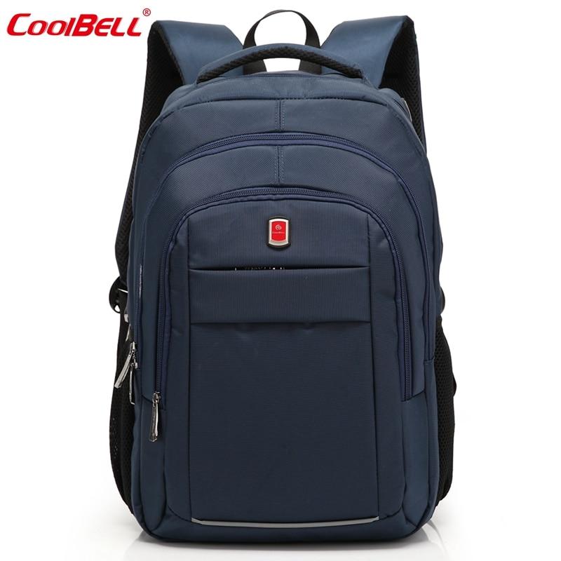 CoolBell Waterproof Nylon Men Backpack 15.6 17.3 Inch Backpack Laptop Computer Notebook Women Backpack School Bag