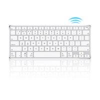 Ajazz AK3.1 Ultra thin 78 Keys Mini Wireless Keyboard BT Keyboards Ergonomic Metal Panel Keyboard For Phone Tablet Laptop