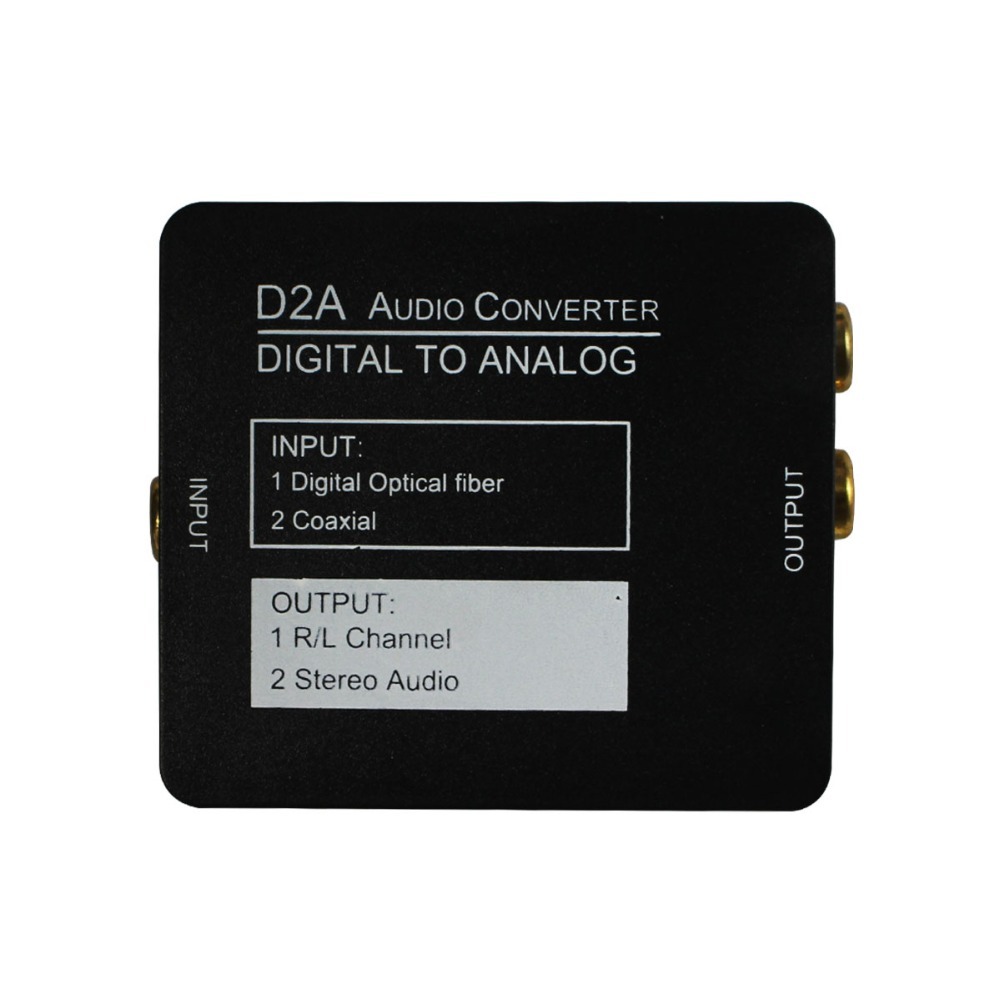 Digital Optical Coaxial To Analog Audio Converter Adapter RCA L/R With 3.5mm Jack Output (RCA+Earphone)