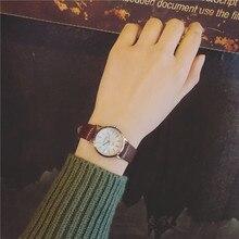 Luxe Vintage Or Argent Classique En Cuir Véritable Quartz Robe Montre-Bracelet Montres pour Femmes Femelle Noir Brun