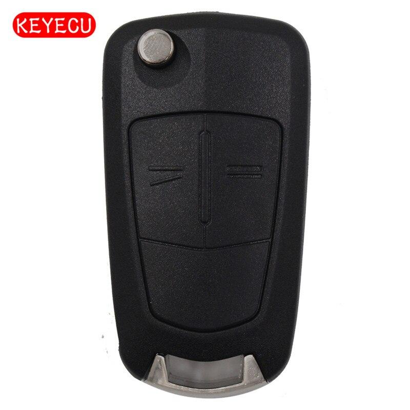 Keyecu À Distance Clé Fob 2 Bouton 433 mhz PCF7941 Puce pour Vauxhall Opel Astra H 2004-2009/Zafira B 2005-2013