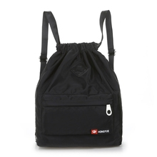 Nylon Backpack Waterproof Drawstring Sport Bag For Men Women