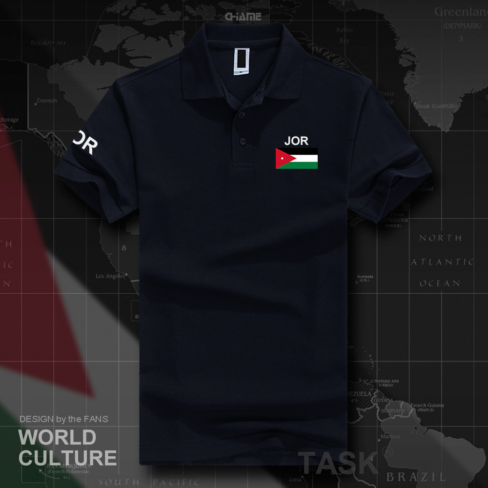 Jordan Jordanian   polo   shirts men short sleeve white brands printed for country 2017 cotton nation team flag new JOR Arabic Arab