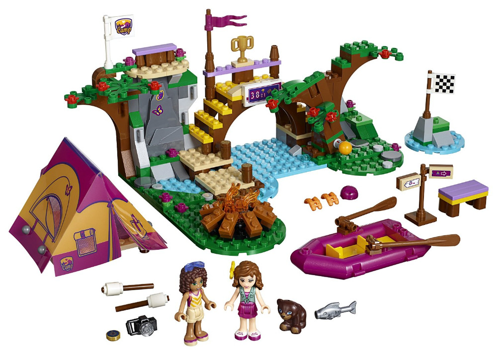 BELA Friends Series Adventure Camp Rafting Building Blocks Classic For Girl Kids Model Toys Marvel Compatible Legoe