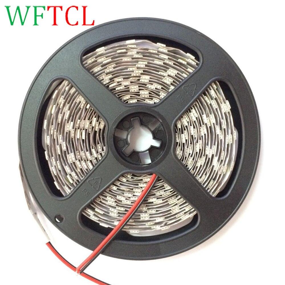 WFTCL 5050 LED Strip Light Decoration light LED Strips, Tape, Rope Light 5 Meters, 3 Chips Tiras LED Flexible LED String Light