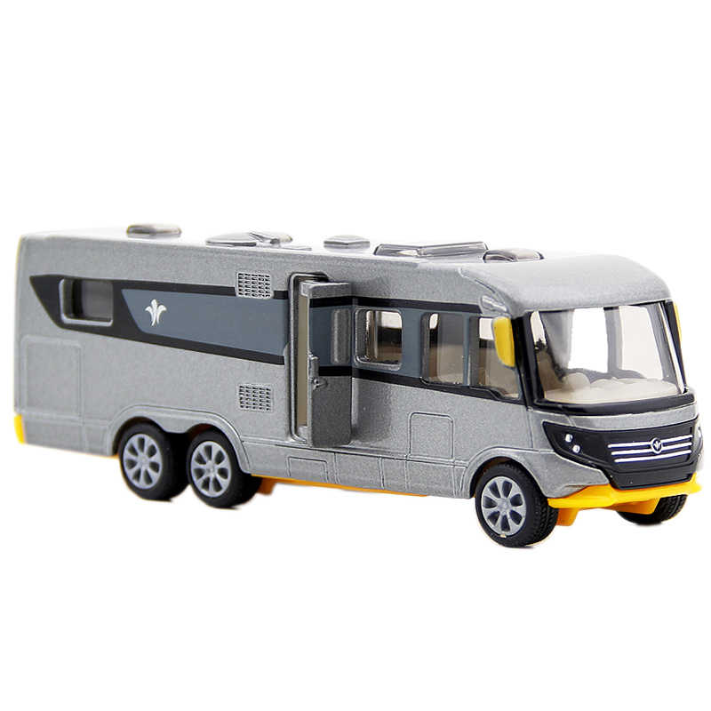 SIKU Alloy Motorhome Car Toy Simulation Camping RV Car Model Bus Toys For Children  Gift Trailer