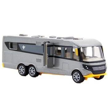 SIKU Legering Camper Auto Speelgoed Simulatie Camping RV Auto Model Bus Speelgoed Voor Kinderen Gift Trailer