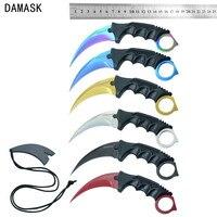 Damask Brand Camping Knife CSGO Counter Strike Machetes Karambit Knife Fixed Stainless Steel Blade Mutli Knife