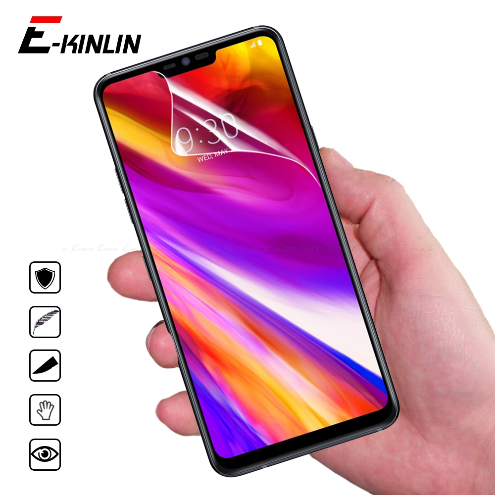 2pcs Nano Explosion Proof Clear Glossy Screen Protector For LG G7 Q7 Q6 Plus ThinQ Prime Noir Q7a Q6a Alpha Soft Protective Film image