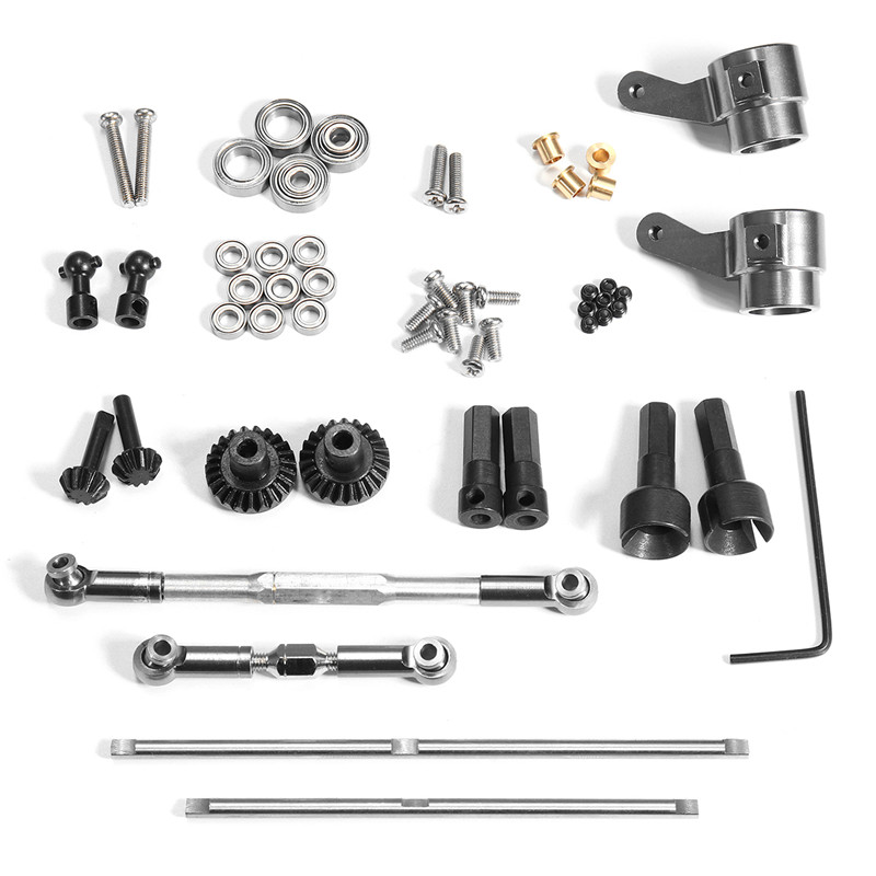 WPL Upgrade Metal Gear Bridge Axle Set For 1/16 Rc Car Trunk Remote Control Toys Replacement Spare Part Accs цена