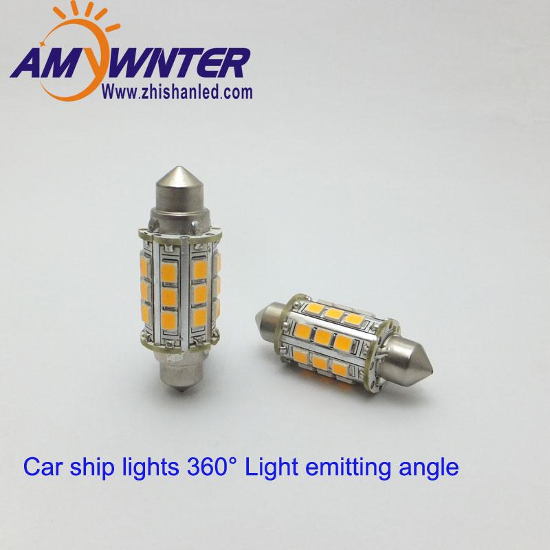 Festoon 12V C5w LED 2835 24V Diody Morskie Wskaźnik świetlny 36mm - Światła samochodowe - Zdjęcie 1