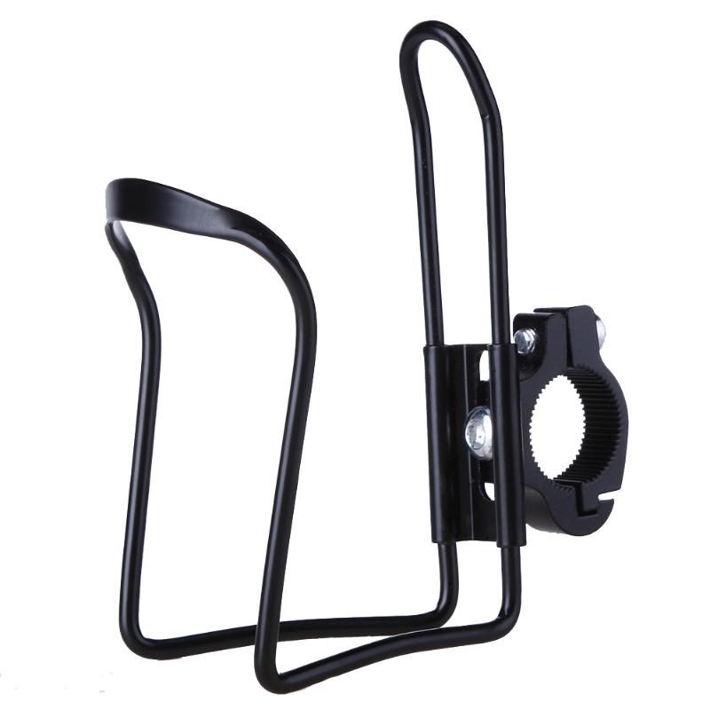 Aluminum Alloy Bicycle Handlebar Mount Water Bottle Holder with Buckle Bike Water Cup Rack Cage Bracket Bicycle Accessories