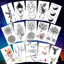Rejaski Creative Black Tattoo Sticker Women Body Art Planets Temporary Tattoo Men Moon Waterproof Tatoos Long Lasting Kids Tatoo(China)