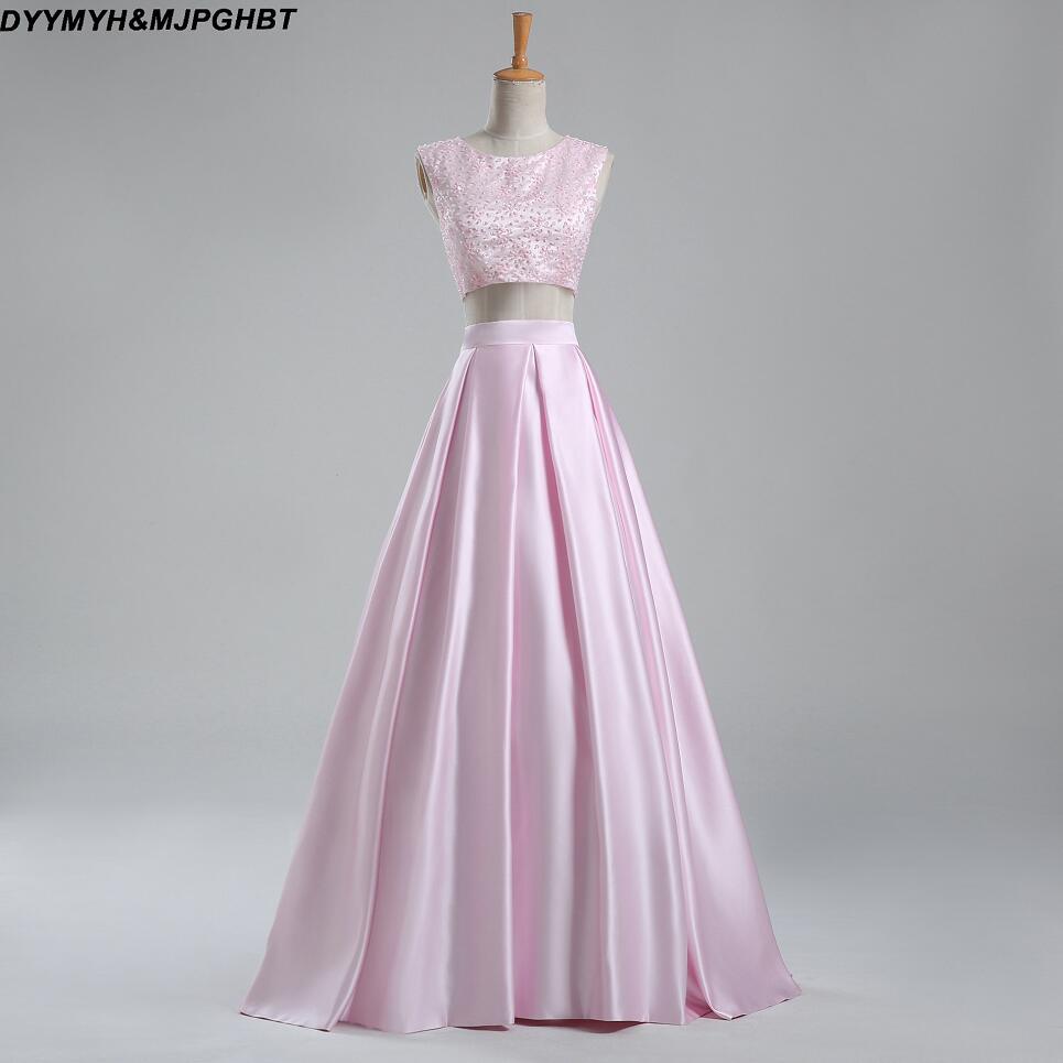 Vestidos शिफॉन फीता दो टुकड़े - विशेष अवसरों के लिए ड्रेस