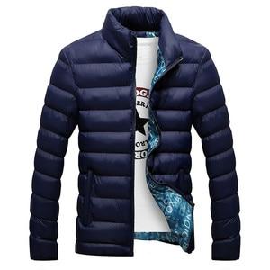 Image 4 - RUELK ฤดูหนาวแจ็คเก็ตชาย 2019 แฟชั่น Stand Collar Parka Jacket Mens หนาแจ็คเก็ตและ Coats ชายฤดูหนาว Parkas m 6XL