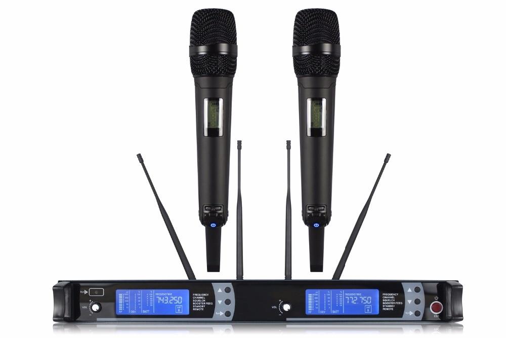 NTBD Thuis KTV Party Stage Performance Spreken Rap Anker M9100 Professionele Dual Draadloze Microfoon 2 Kanaal 2 handheld Dynamische - 4
