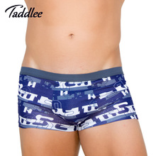 Taddlee Brand Sexy Mens Underwear Boxer Trunks Soft Basic Mens Boxers Gay Penis Pouch Wonderjock Big Plus Size Elastic Trunks