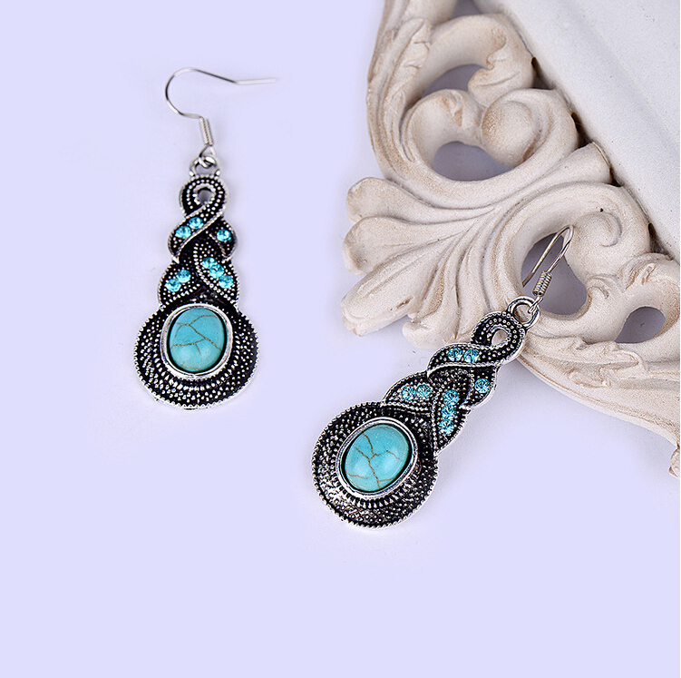New Fashion Silver Long Drop Earrings Jewelry For Woman b2hfb25D ABC